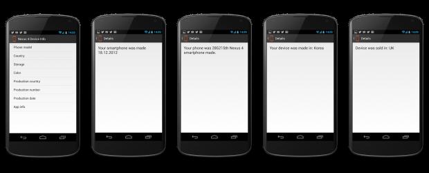 Nexus 4 Device Info