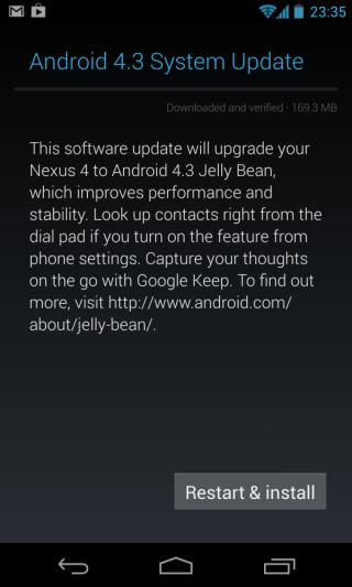 Nexus 4 - Android 4.3