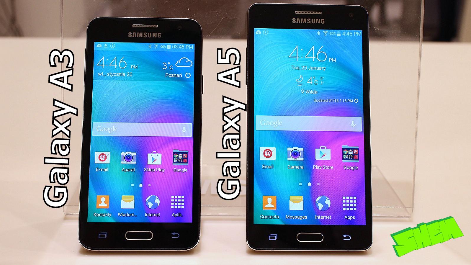 [WIDEO] Samsung Galaxy A3 i Galaxy A5 – porównanie modeli i pierwsze wrażenia